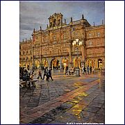Plaza Mayor. Salamanca-Atardece